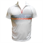 Camiseta Dry Fit Polo Degradê Zip Top