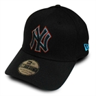 Bon� New Era New York Preto Aba Curva - New Era NY